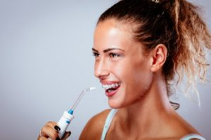 person water flossing